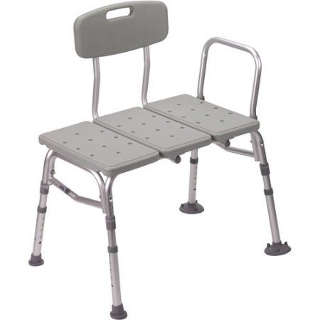 Drive Medical Plastic Shower Tub Transfer Bench With Adjustable