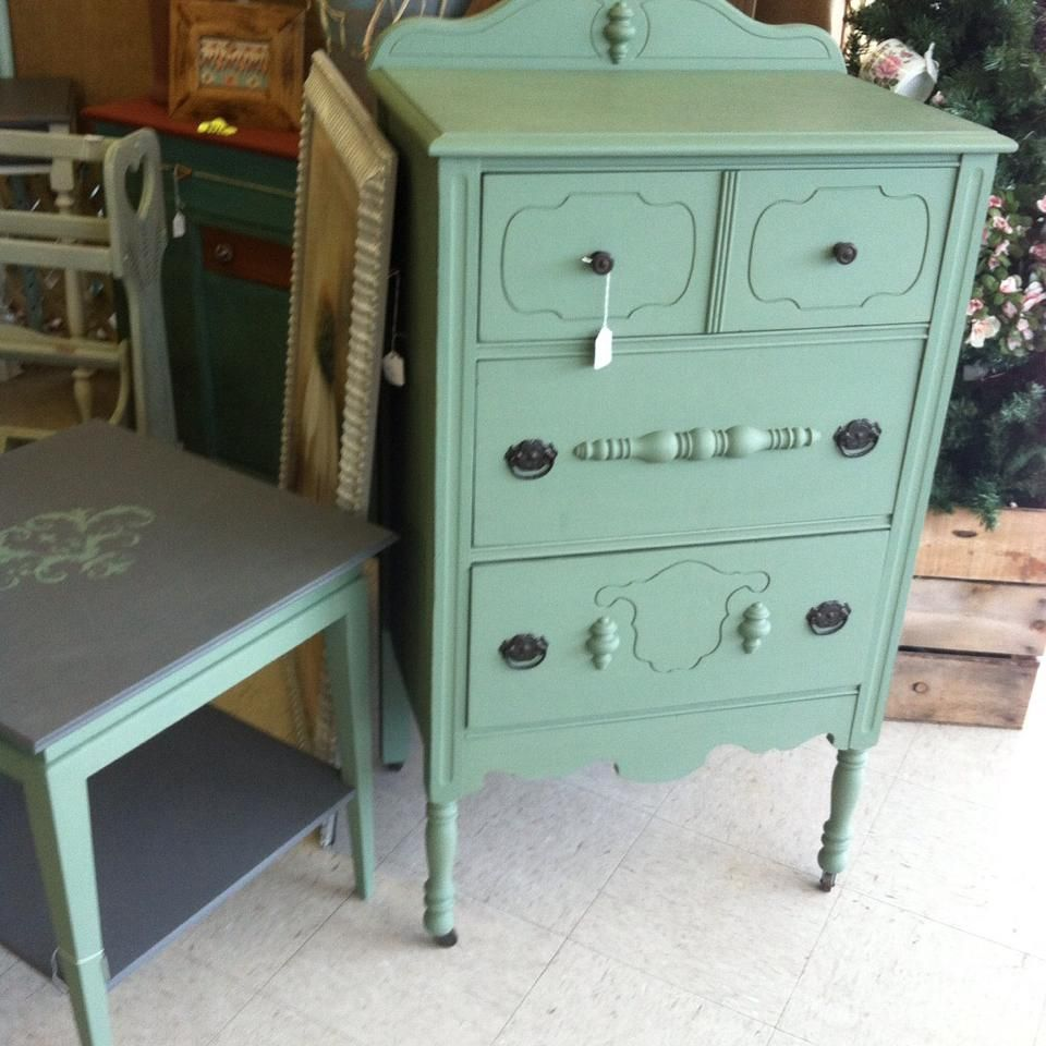 Waverly Moss Green Painted Furniture Waverly Chalk Paint Chalk