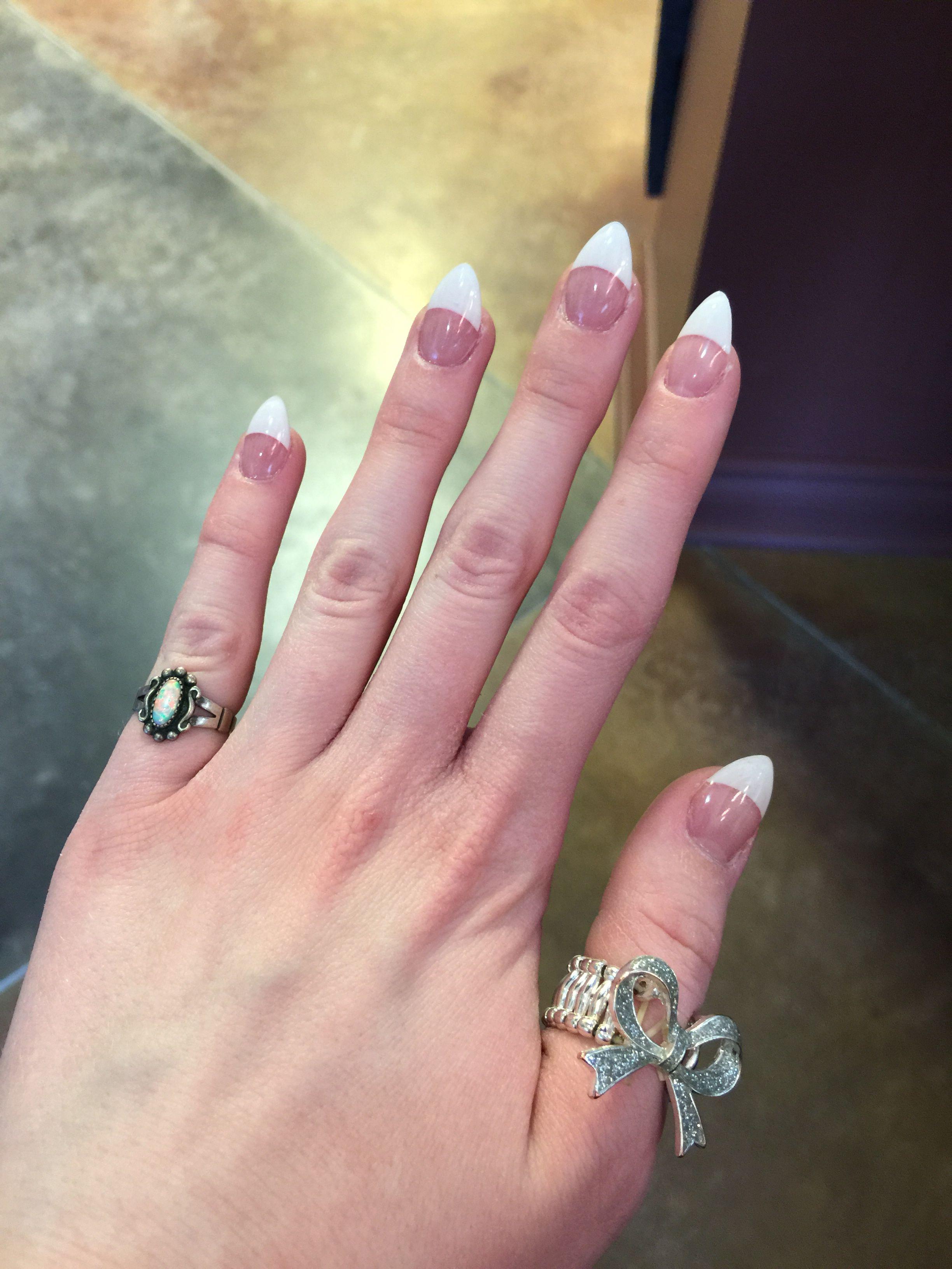 White tip French stiletto nails ❤   Nails   Pinterest   Double team ...