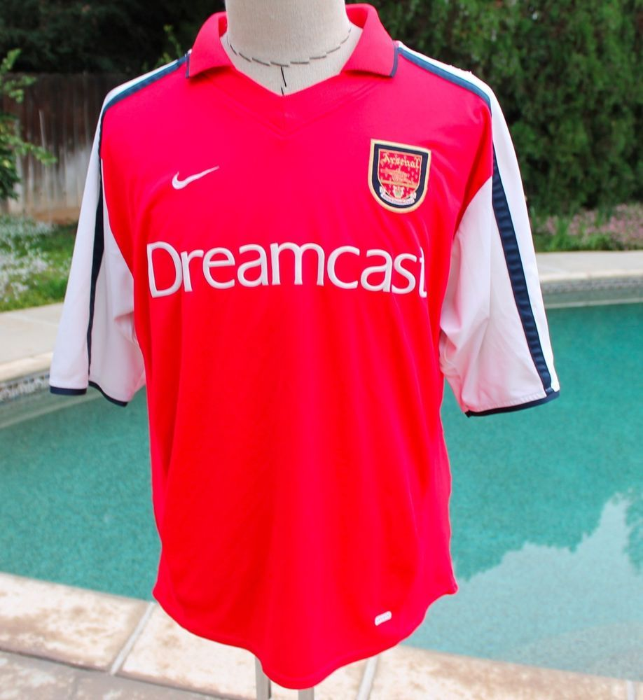 67aba964e2b Arsenal Nike Dri Fit Polo Shirt Soccer Jersey Sega Dreamcast size Large Mens   Nike  Arsenal