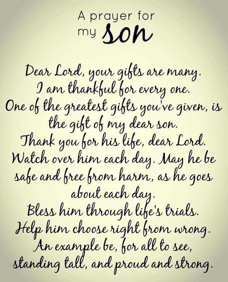 a mother s prayer for her son food pinterest sons