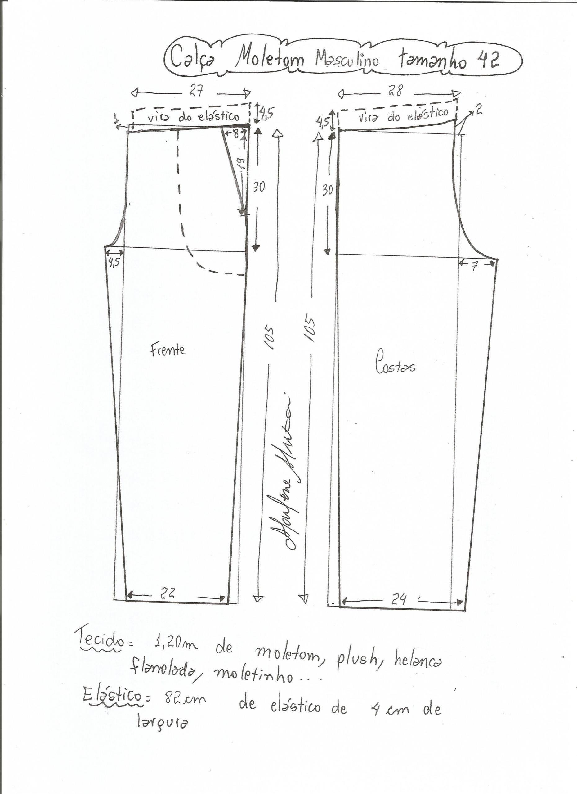 Masculino: Calça de moletom | Costura moldes | Pinterest | Molde y ...
