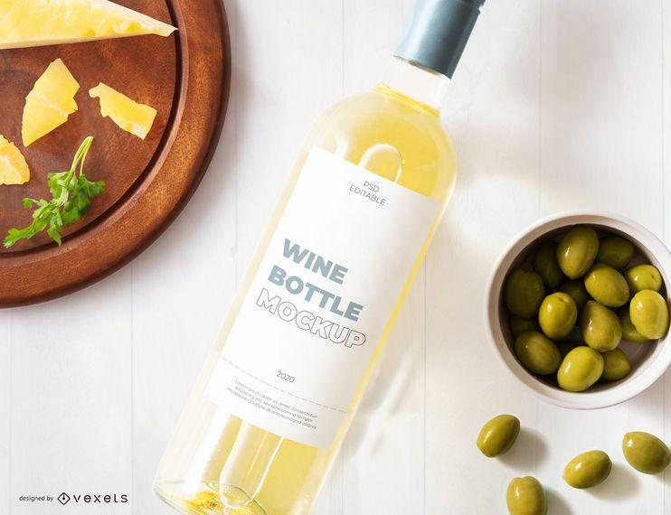 White Wine Bottle Label Mockup Ad Wine White Label Mockup Bottle In 2021 Wine Bottle Bottle Mockup Business Card Mock Up