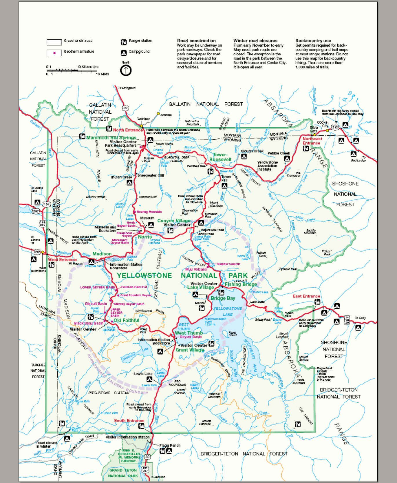 Where Is Yellowstone National Park My Yellowstone Park United - Map of us national forest