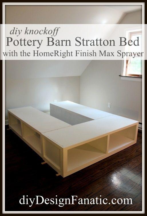 Pottery Barn Knockoff Storage Bed Bedroom Diy Diy Bed Home Diy