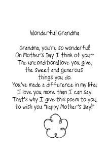 Free Mother S Day Template And Brush Mothers Day Poems Mother Poems Grandma Poem