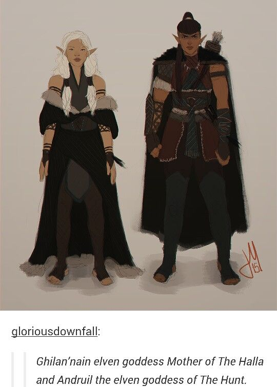 Some of the gods http://tainted-knight.tumblr.com (my ElfQuisitor looks like Ghilan-nain...)