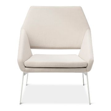 Lounge Chair White Natural Modern By Dwell Magazine Lounge