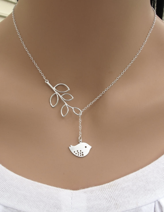 Wholesale 925 Sterling Sliver Filled Peace Dove Pendant Chain Necklace