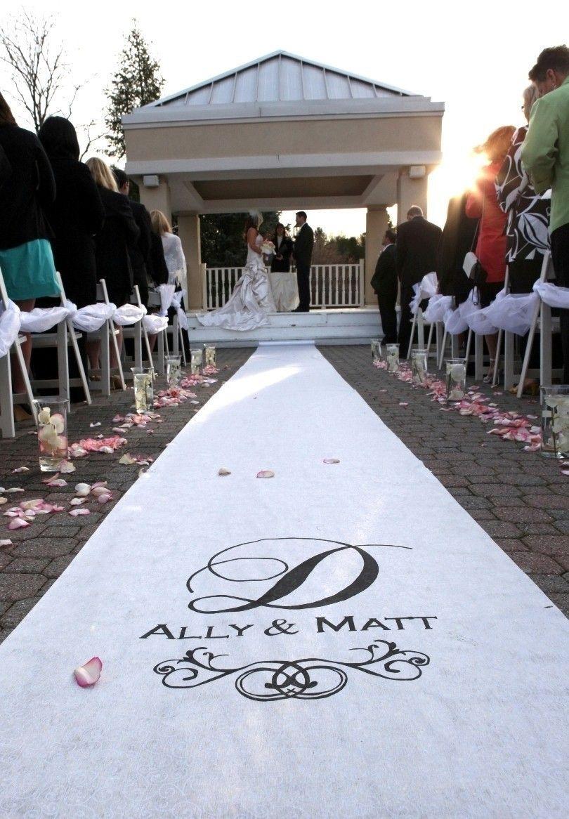 Custom Wedding Aisle Runner - White. $145.00, via Etsy.   Tying the ...
