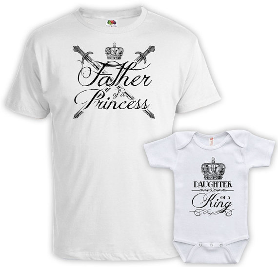 a1c59d44 Matching Father And Baby Father Daughter Shirts Matching Family Shirts  Father Of A Princess Daughter