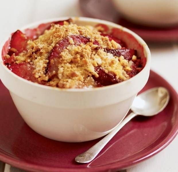 Homemade Plum Crumble