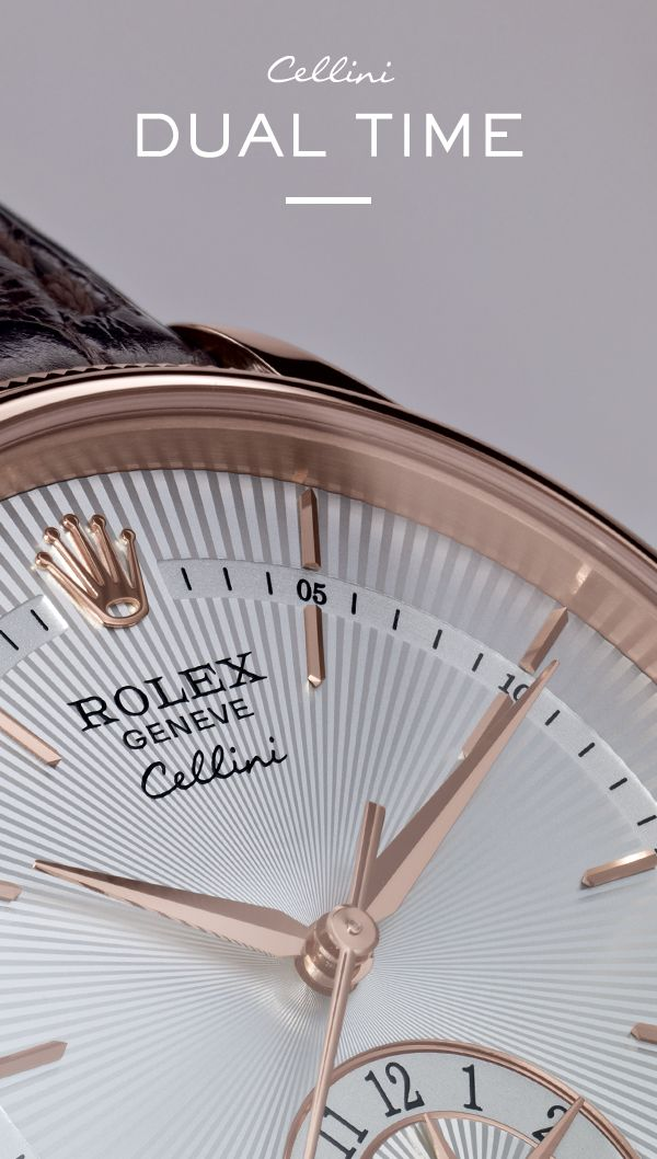 The new Rolex Cellini Dual Time. #RolexOfficial #Baselworld
