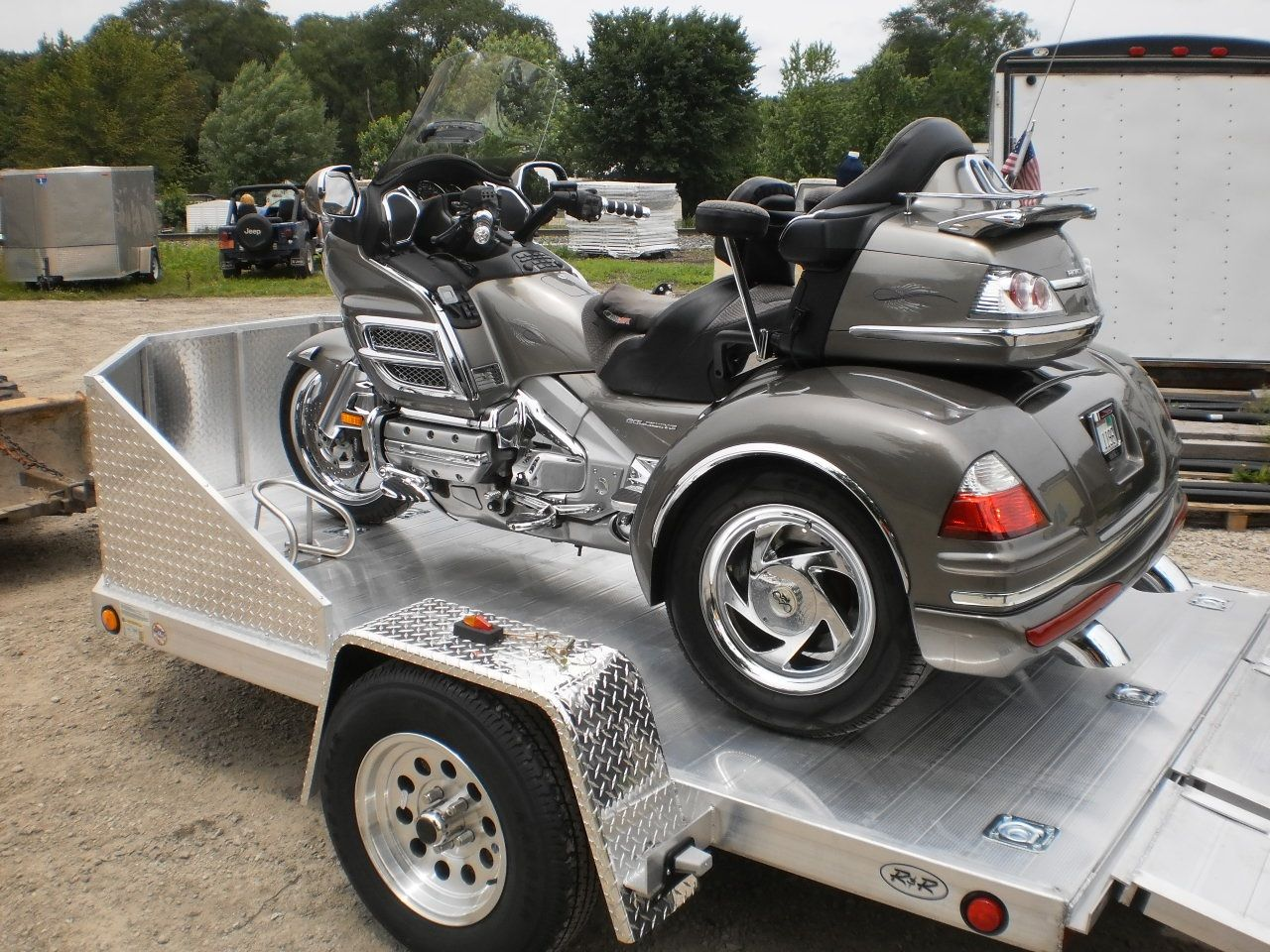 R and r all aluminum omc3 7 x 11 open motorcycle trailer r and p r and r all aluminum omc3 7 x 11 open motorcycle trailer sciox Choice Image