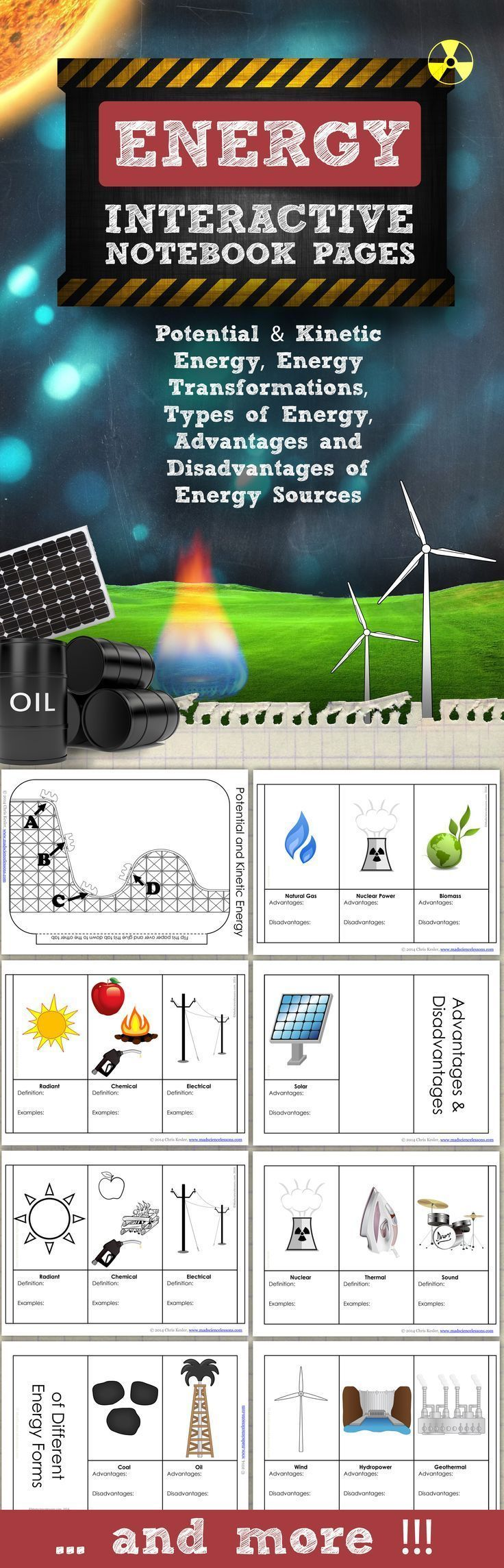 Energy For Science Interactive Notebooks And Journals