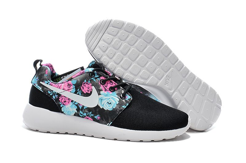 Buy Nike Women Roshe Run Floral Black Mid Sole Pink Blue Rose Running Shoes  Top Deals from Reliable Nike Women Roshe Run Floral Black Mid Sole Pink  Blue ...