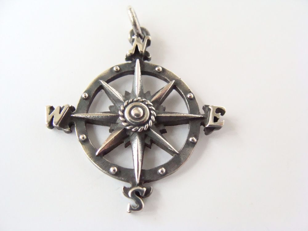 Retired James Avery Sterling Silver Mariner S Compass