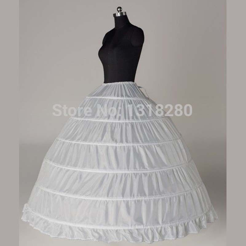 cfc475dc4b Q10 Real Ball Gown 6 Hoops White Underskirt Bridal Petticoat ...