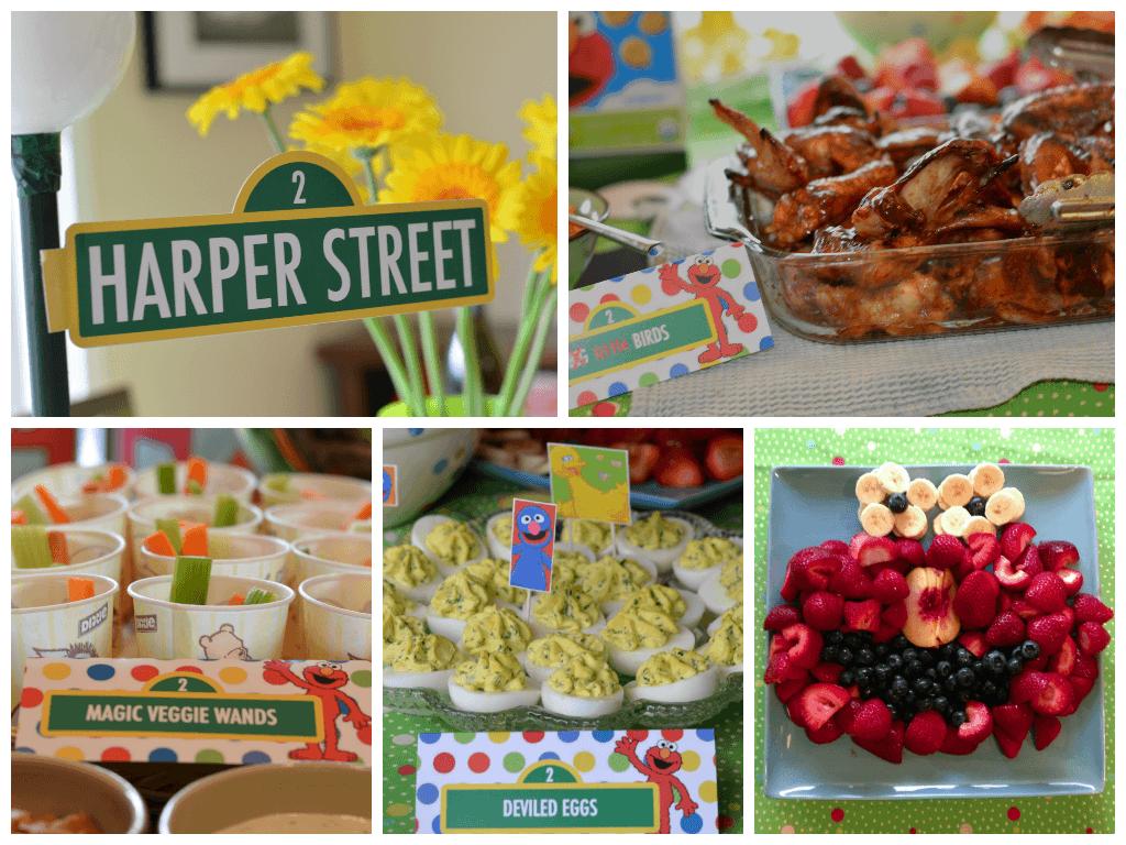 Elmo Birthday Party Buffet 1