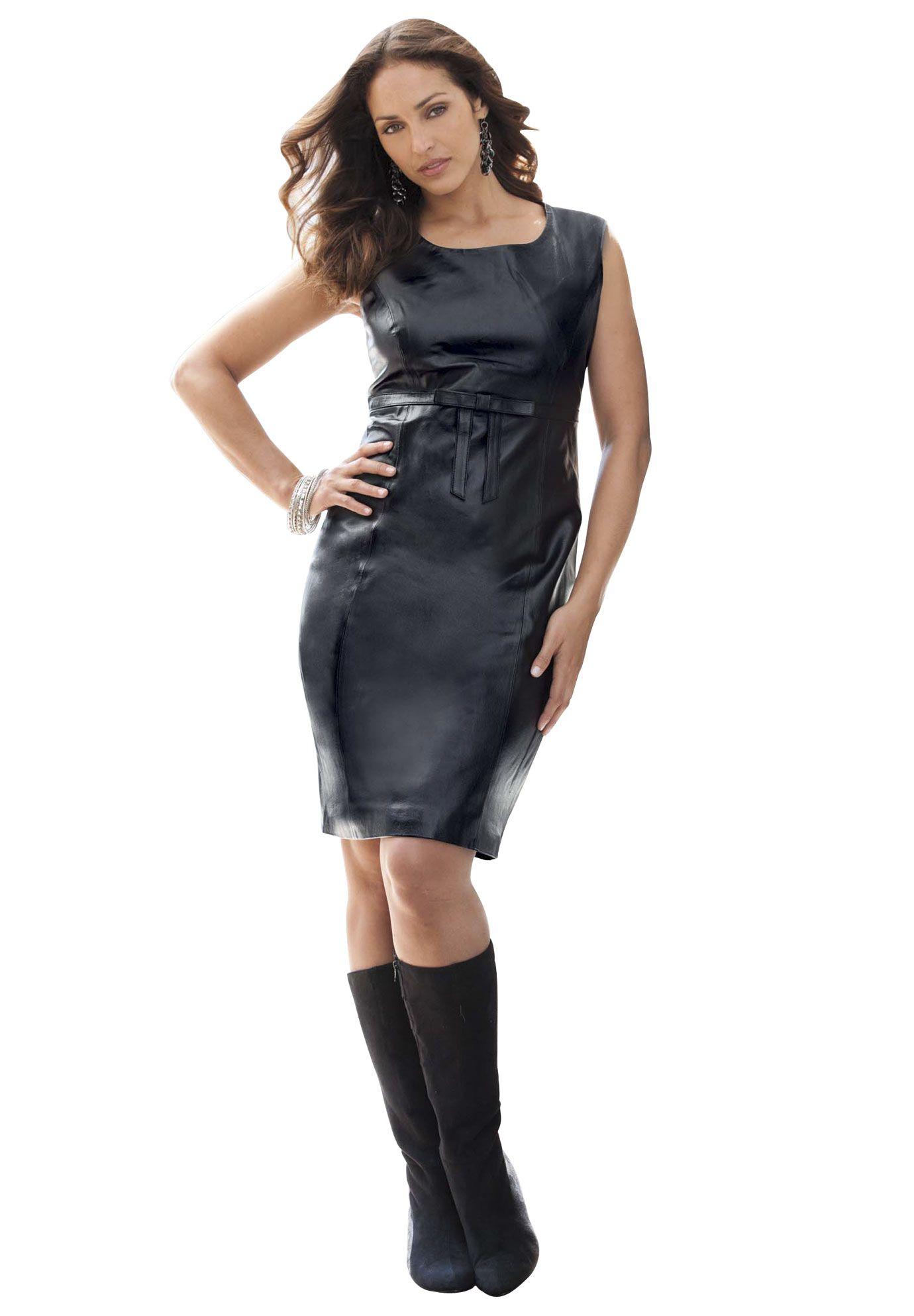Plus Size Leather Sheath Dress Plus Size Work Dresses Jessica