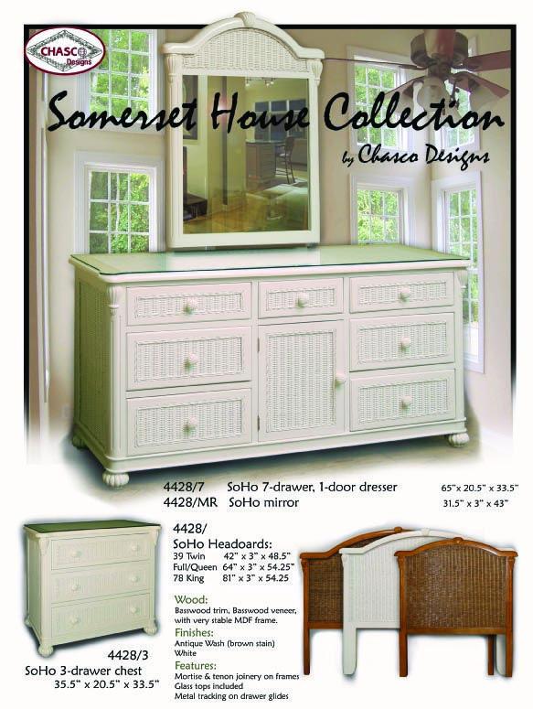 Soho White Wicker Bedroom Furniture By Schober White Wicker Bedroom White Wicker Bedroom Furniture Wicker Bedroom Furniture
