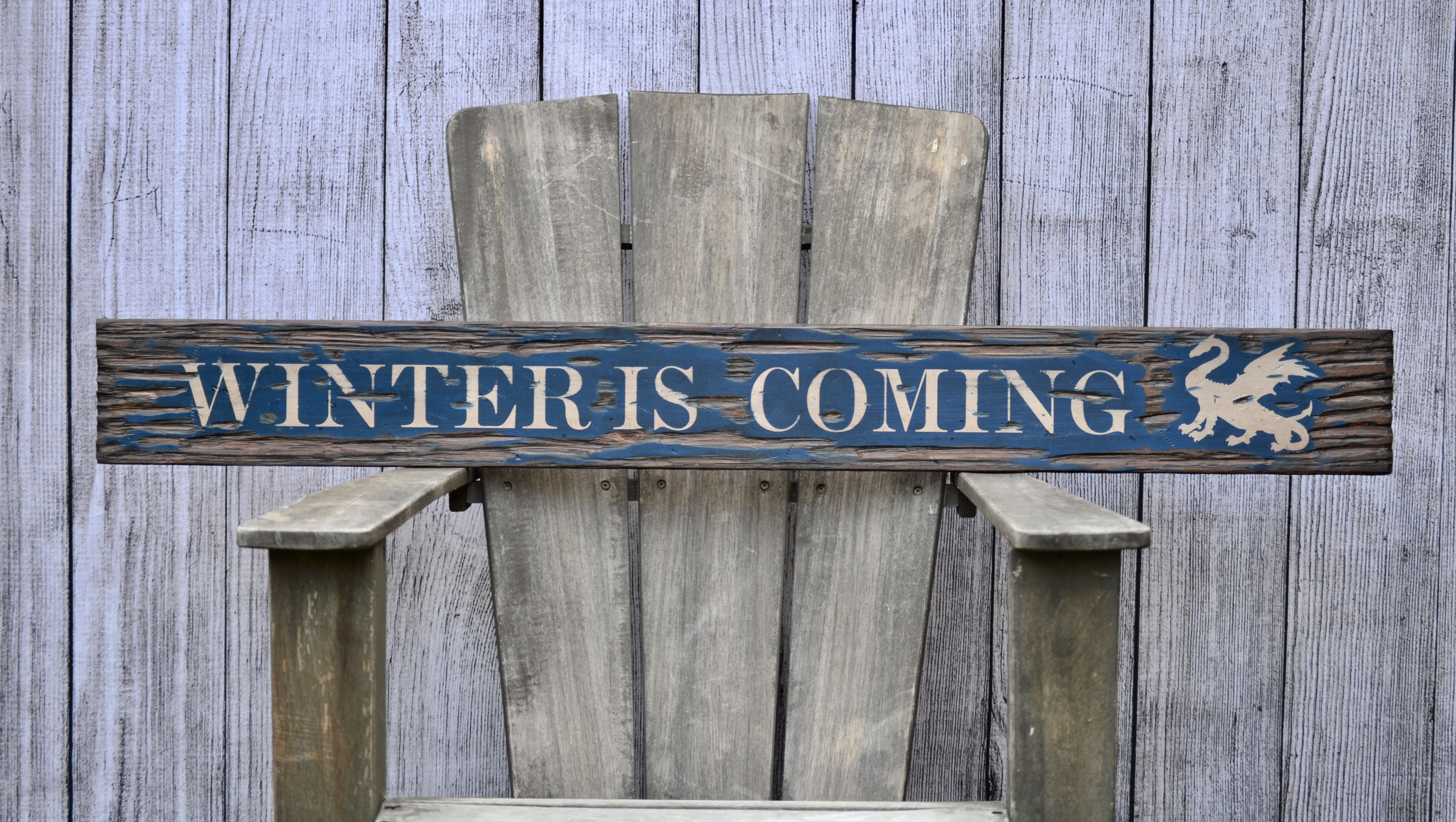 Winter Is Coming Distressed Rustic 36 Wood Sign Home Design Wall Decor Wall Art Barn Wood Signs Wood Barn Wood Signs Rustic Wood Signs Wood Signs Sayings