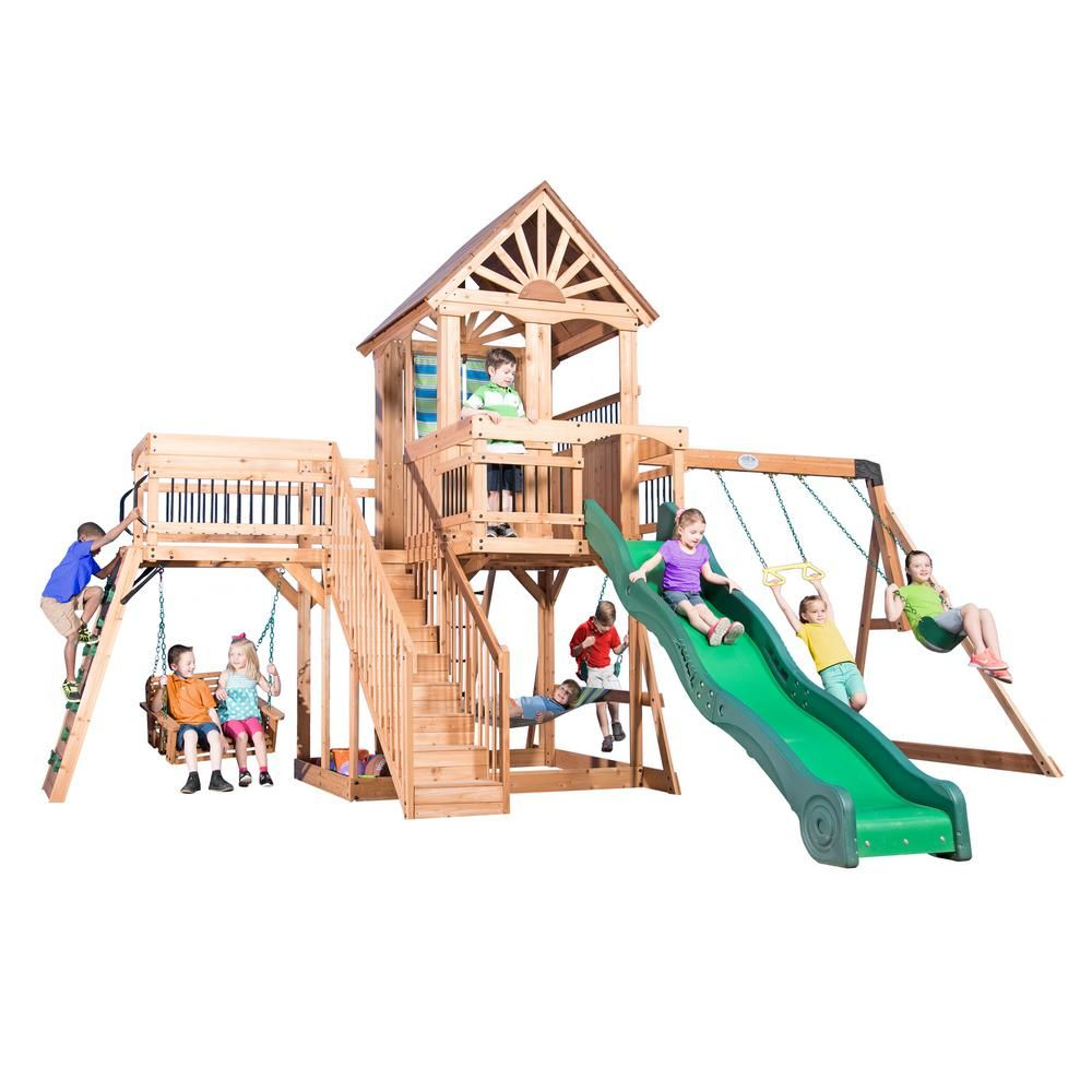 Backyard Discovery Caribbean All Cedar Playset | Backyard, Outdoor ...