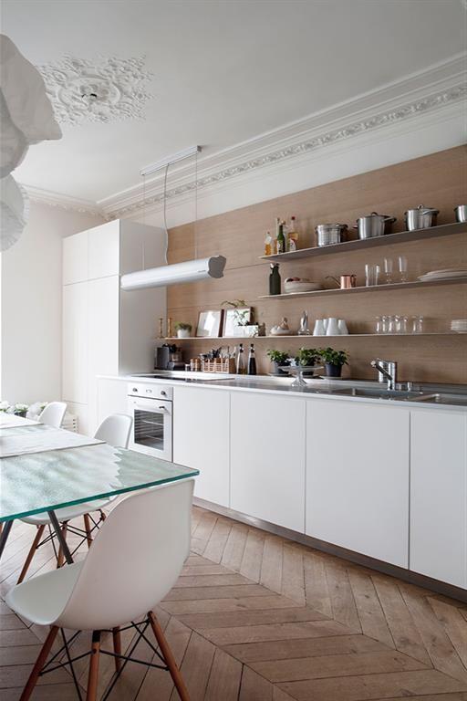 cuisine appartement haussmannien cuisine en 2018 pinterest appartement appartement paris. Black Bedroom Furniture Sets. Home Design Ideas