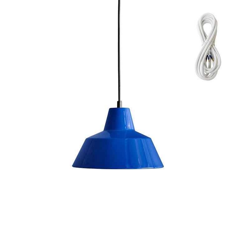 Besondere Deckenlen made by workshop 2 hängeleuchte blue kabelfarbe weiß