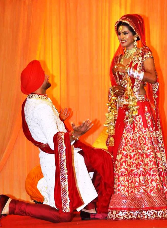 Harbhajan Singh Geeta Basra Wedding Pictures Indian Bridal Outfits Bollywood Wedding Indian Bride