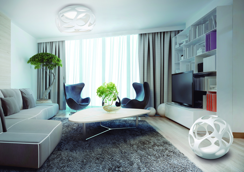 Für eine angenehme Atmosphäre ist die Organica-Wohnraumleuchten Serie von Mantra genau das Richtige für Fans ausgefallener Designs.