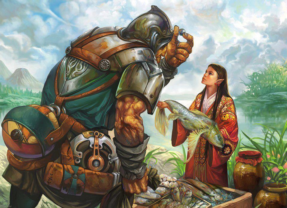 Elf Merchant Fantasy Art Fantasy Fantasy Illustration
