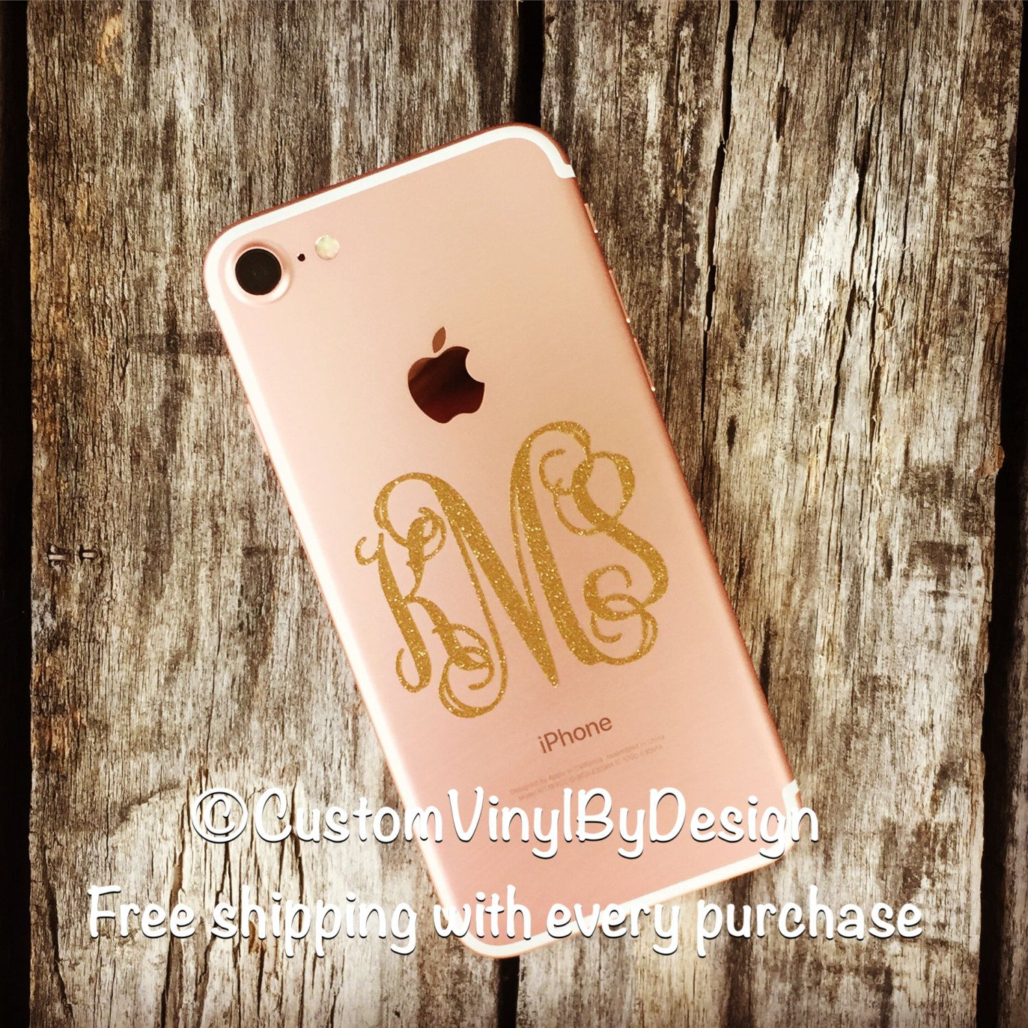 Ships Free IPhone IPhone Case Monogram IPhone Monogram - Vinyl decals for phone cases