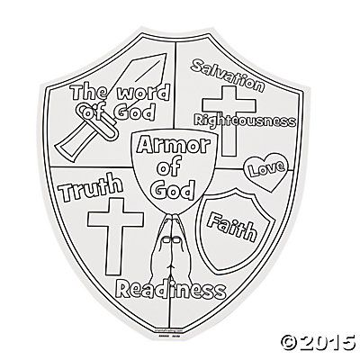 """Color Your Own """"Armor of God"""" Cutouts - Oriental Trading ..."""