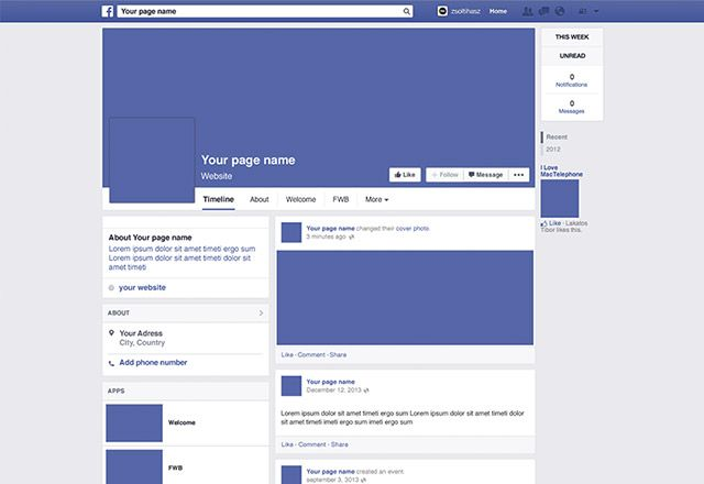 Here Is The Facebook  Page Mockup Created With Adobe Photoshop