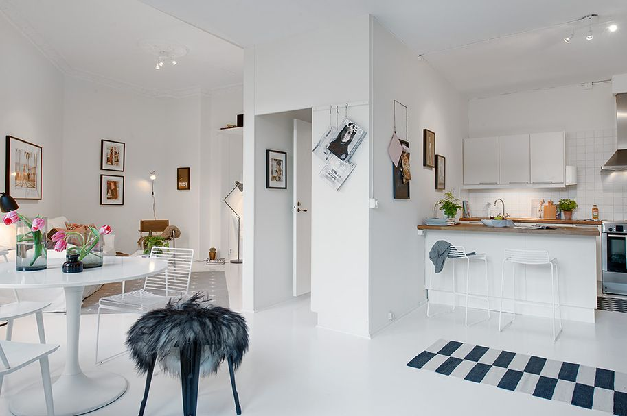 Single Room Apartment With an Interesting Layout in Gothenburg, Sweden -  Freshome