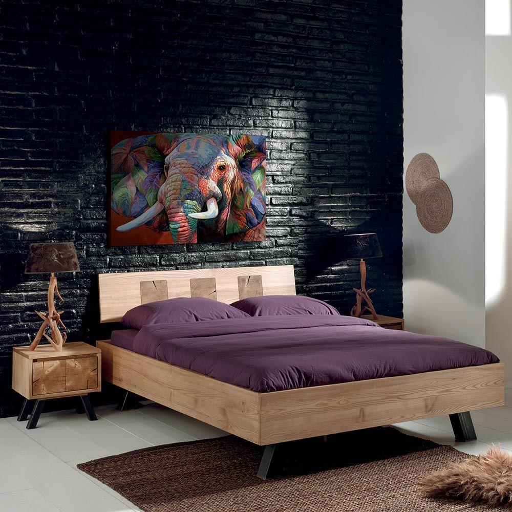 Lit Poutre Bois Massif lit oregon | idées de lit, lit 2 places et décoration maison
