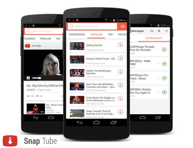 Snaptube Descargar Videos Y Musica De Youtube Gratis Con