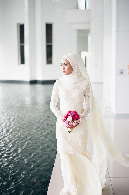 Hijab Simple Malay Wedding Dress Addicfashion