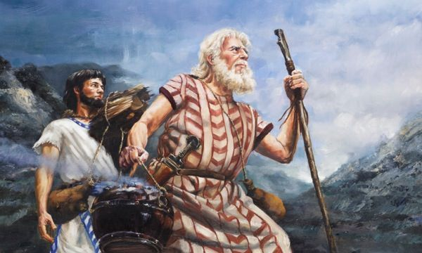 Abrahan Dirigiendose Al Lugar Donde Pensaba Sacrificar A Isaac