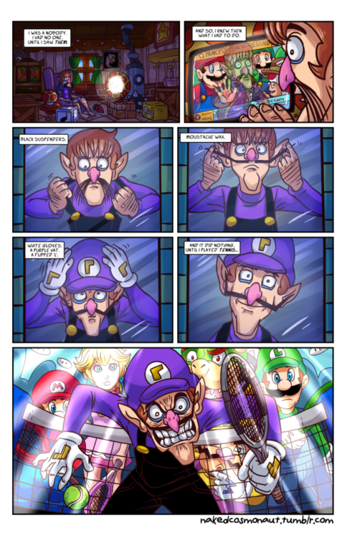 Waluigi Begins With Images Super Mario Art