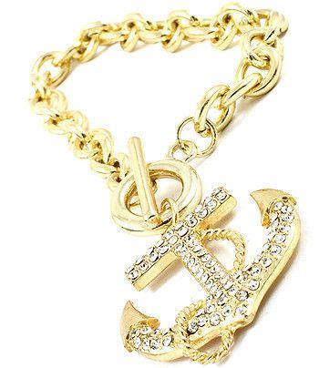 Anchors Away Pave Bracelet