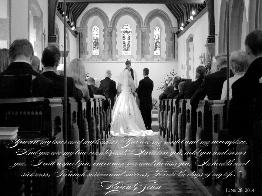 Perfect Valentine's Day Gift for your spouse!! Wedding vow