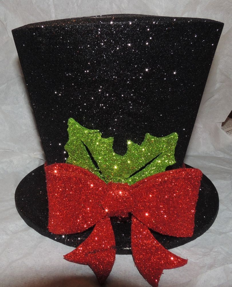 how to make top hat christmas tree topper