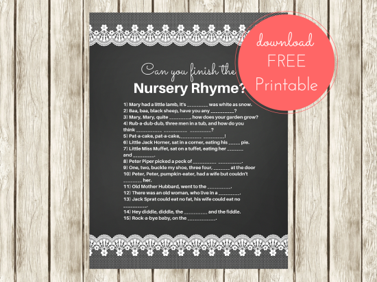 FREE Nursery Rhyme Baby Shower Games~ Hope you like them : ) Grab your copy here http://www.babyshowerideas4u.com/free-nursery-rhyme-baby-shower-games/