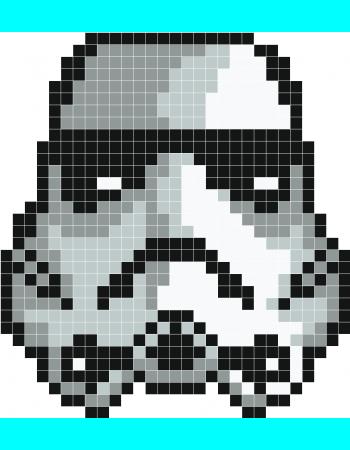 Strormtrooper Pixel Art Stickaz Qui Ne Sait Pas Ce Que Cest Mehr Crochet De Star Wars Perle A Repasser Modeles Pixel Art Star Wars
