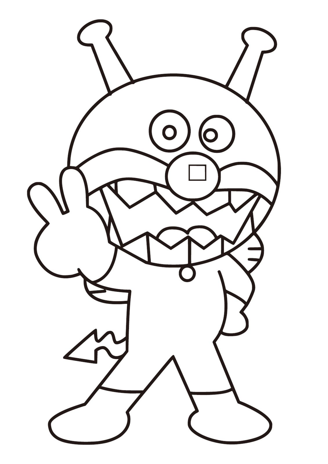 それいけアンパンマン ぬりえ塗り絵画像 テンプレート素材 Coloring Pages Coloring Pages For Kids Doraemon