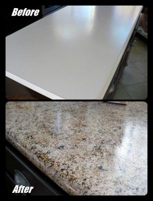 The Homestead Survival Make Your Old Counter Top Look Like New Granite For Around 20 Kitchen Diy Makeover Cheap Kitchen Makeover Outdoor Kitchen Countertops