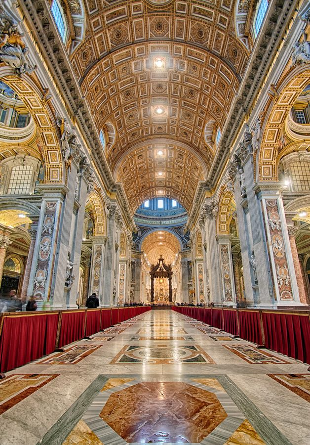 Saint Peter S Basilica Papale Basilica Maggiore Di San Pietro In Vaticano By Dawid Martynowsk Sacred Architecture Cathedral Architecture Church Architecture