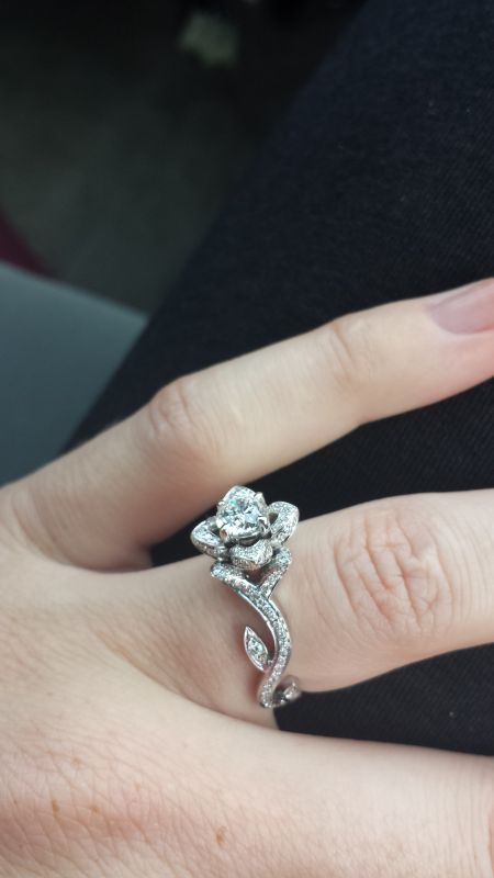 Sleeping Beauty Esque Rose Shaped Ring More Like And The Beast